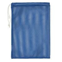 Champion Sports 12x18 Heavy Duty Nylon Mesh Equipment Bag W/ Drawstring, Blue on sale