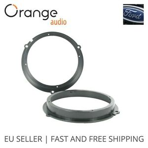 "Ford Fiesta Front and Rear Door Speaker Adaptors Rings 16 cm 160 mm 6.5"" 2008 ->"