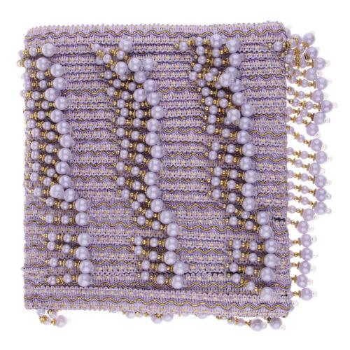 12m Perlen Quaste Fransen Geschnitten Fransenborte Kostüm Quaste trimmen