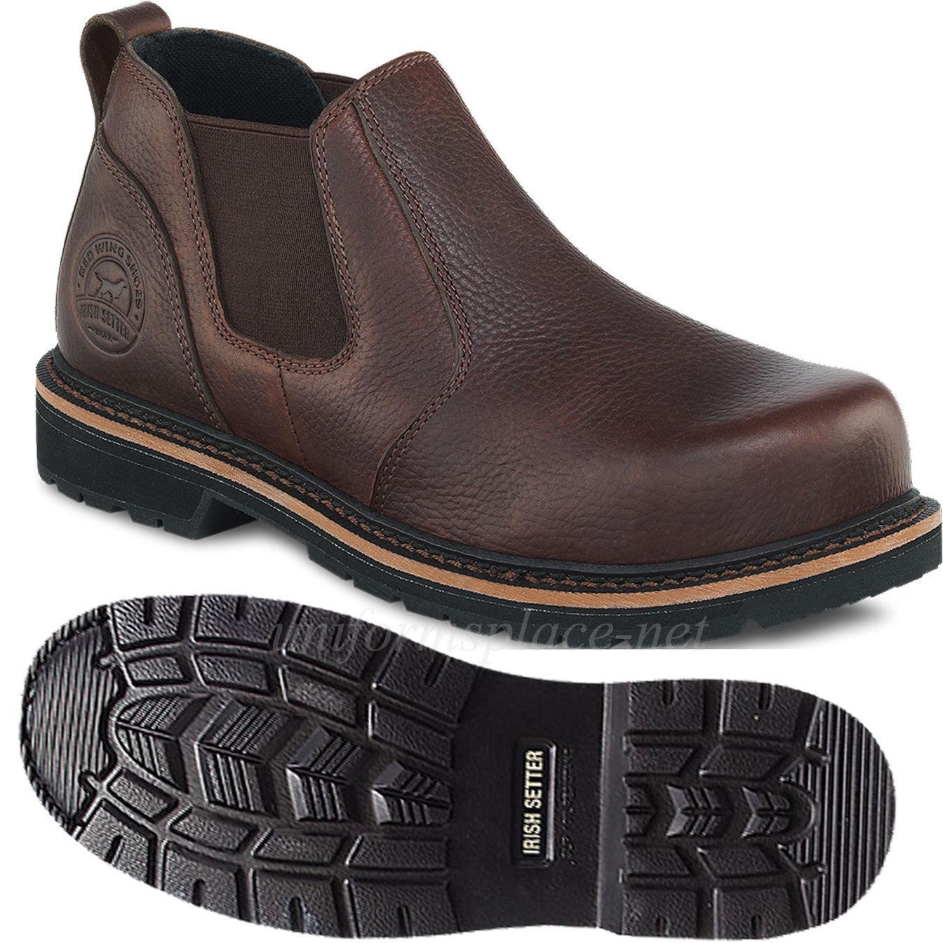 Uomo Stivali Red Wing Irish Setter Cass Steel Toe Romeo Slip-On Pelle Shoes