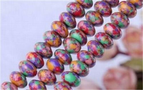 """NEW 5X8mm Multicolor Turkey Turquoise Gemstones Abacus Loose Beads 15/"""""""