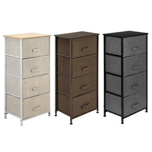 4Dresser-Storage-Shelf-Unit-Tower-Fabric-Drawer-Organizer-Furniture-Cabinet-Home