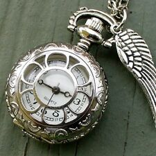 Steampunk WATCH KEY Necklace Victorian gothic WITCH pendant antique style charm