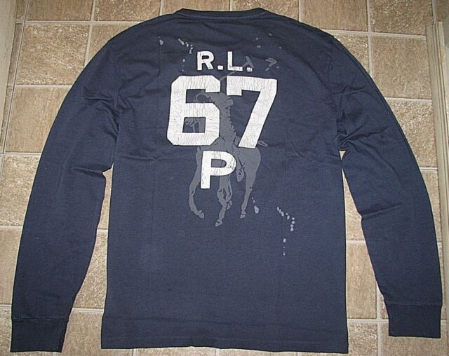 Homme (xl) Polo-ralph Lauren Ancre   Grand Poney T-shirt manches ... 9b8db284a7a2