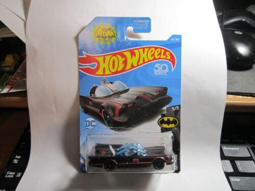 2018 Hot Wheels #163 Batman 5//5 TV Series Batmobile 50th Anniversary