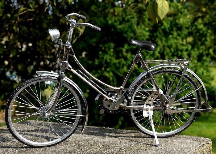 NEU schönes 41cm MINIATUR Damen Fahrrad Metall Modell Bike Dekoration Fahrrad03  | Queensland