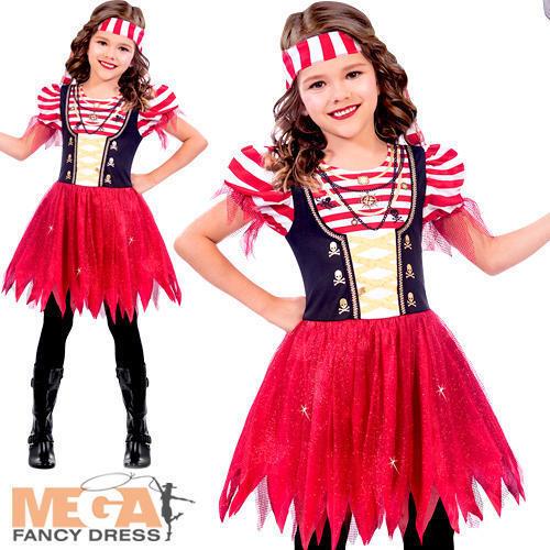 High Seas Pirate Girls Fancy Dress World Book Day Caribbean Kid Children Costume