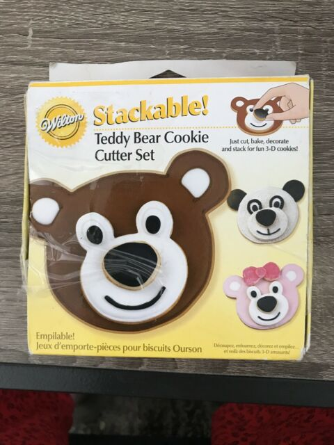 Stackable Teddy Bear Cookie Cutter Set, Wilton, 3 Pieces ...