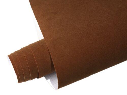 Samt Velourfolie selbstklebend Braun 50cm x 135cm VELVET Matt
