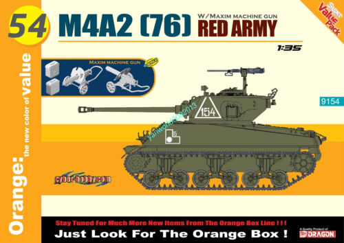 76 Dragon 9154 1//35 scale M4A2 RED ARMY JUST LOOK FOR THE ORANGE BOX!
