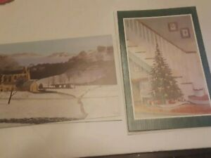 The Mouth And Foot Painting Artists 2 Vintage Unused Christmas Cards W Envelope Ebay
