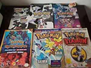 Lot of 6 Pokemon strategy guides/handbook