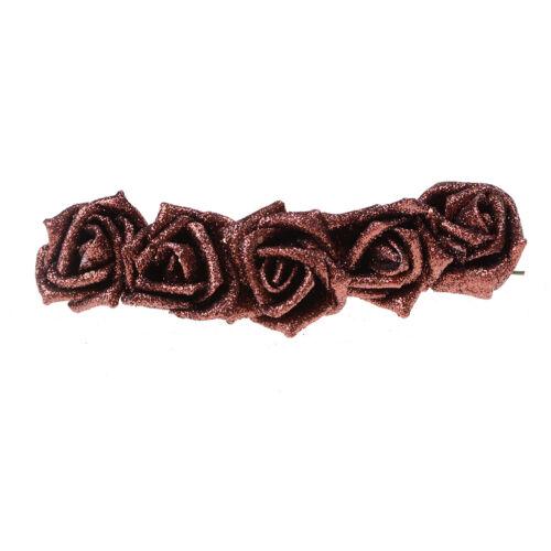 5x couleur pleine paillettes roses fleurs Bouquet mariage décoration maison