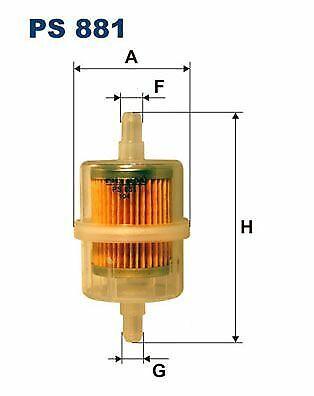FILTRON Kraftstofffilter PS 881 für MERCEDES-BENZ RENAULT PEUGEOT TALBOT FIAT