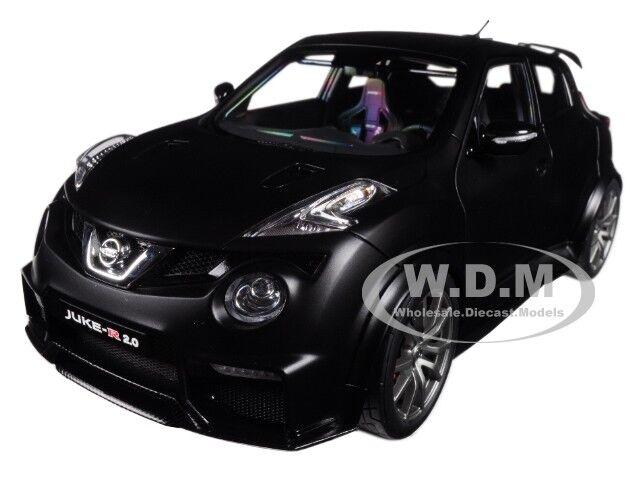 todos los bienes son especiales Nissan JUKE R 2.0 matt negro coche modelo modelo modelo 1 18 de Autoart 77458  ahorrar en el despacho