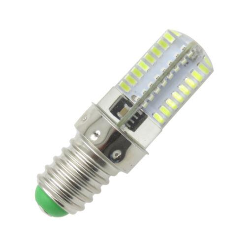 1x Mini E14 White bulb 64 3014 SMD LED lamp 110~120V 2.6W Silicone Crystal Light