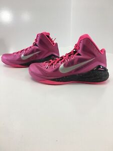 best service 506be 3161b Image is loading Nike-Mens-Pinkfire-Hyperdunk-Basketballs-Shoes-Black-Hyper-
