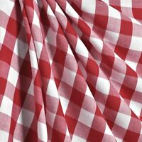 30 Ft Checkered Fabric 60 Wide Gingham Buffalo Check Tablelcoth Fabric Decor