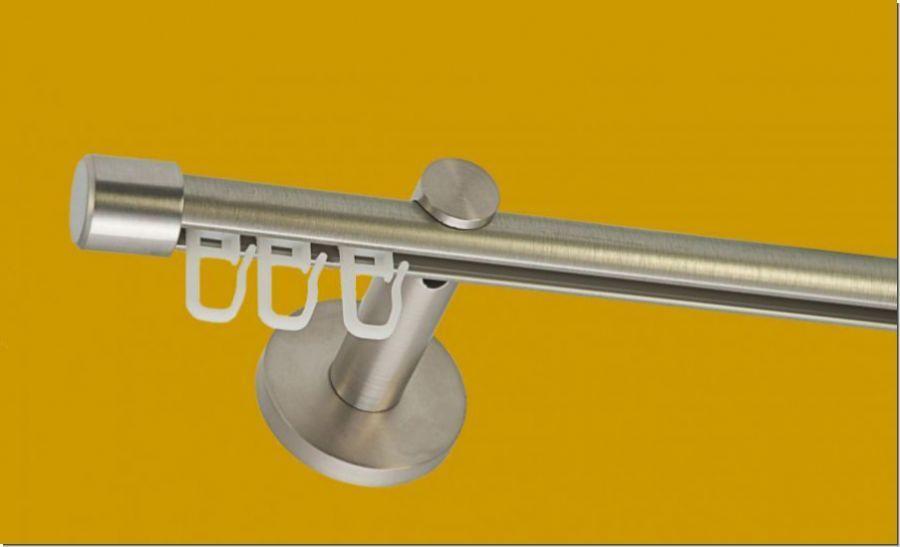Gardinenstange Gardinenstange Gardinenstange 1lfg  Innenlaufsystem 16mm Edelstahl Design 32efe5