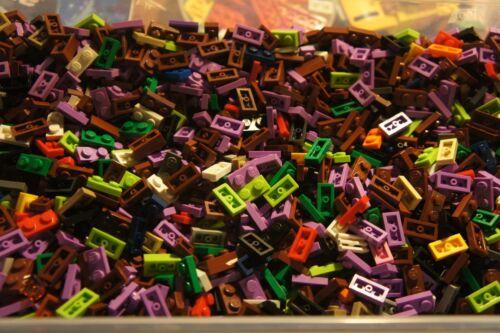 500 Pcs LEGO 3023 Assorted Colors 1 x 2 PLATES 1x2 Building Blocks Bricks Tile