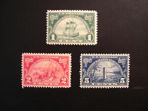 United-States-Scott-614-616-the-Huguenot-Walloon-Tercentenary-Set-from-1924