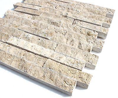 Travertine Light XL Naturstein Schiefer Marmor Fliese Wandverkleidung Mosaik