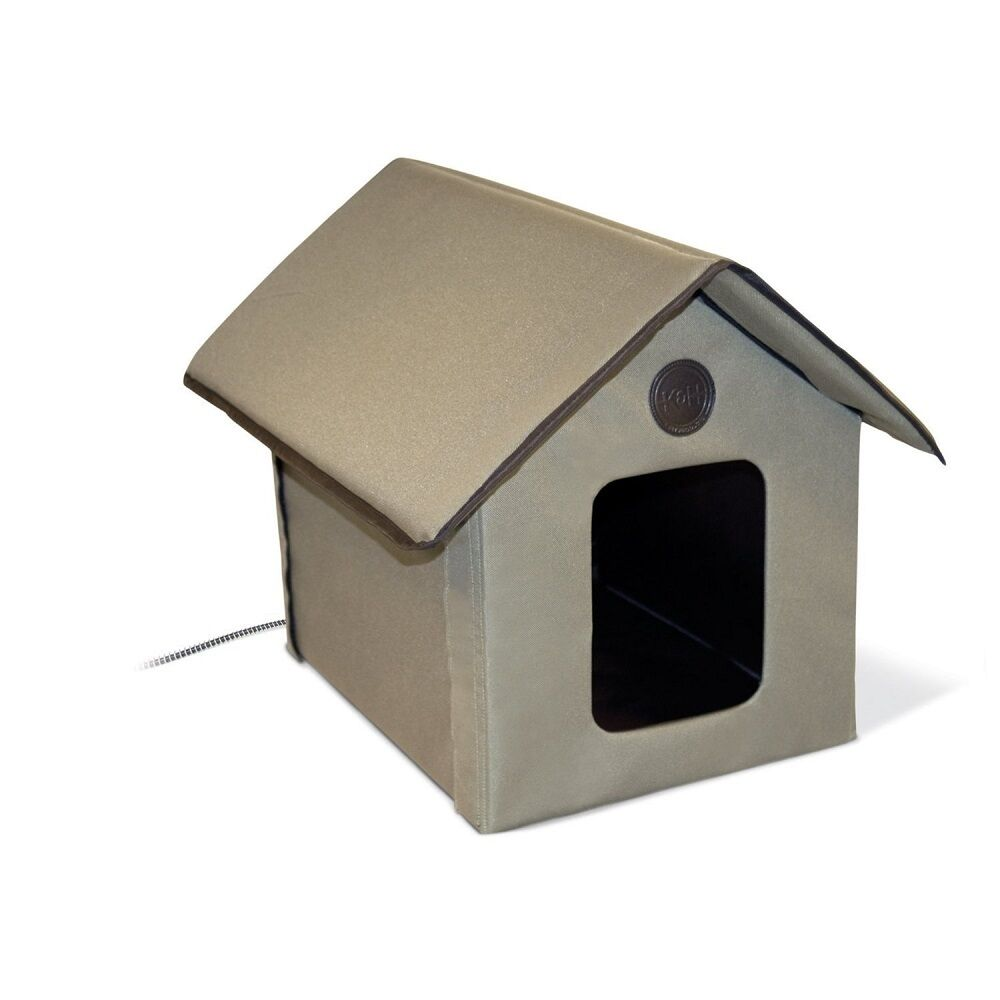 K&H Pet Products Outdoor Thermo Kitty House w Removable Lectro-Soft Heated Floor
