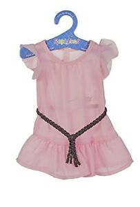 fiber craft springfield collection pink dress with ruffle