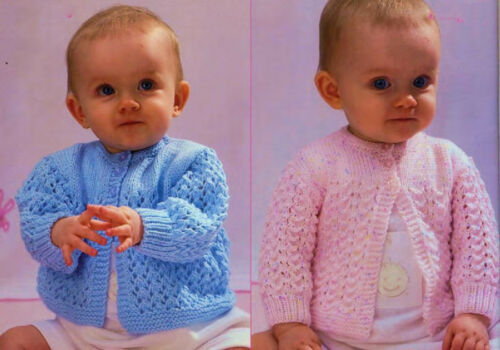 KNITTING Pattern-Childs matinee jackets in DK wool-fits prem-12 chest-20 chest