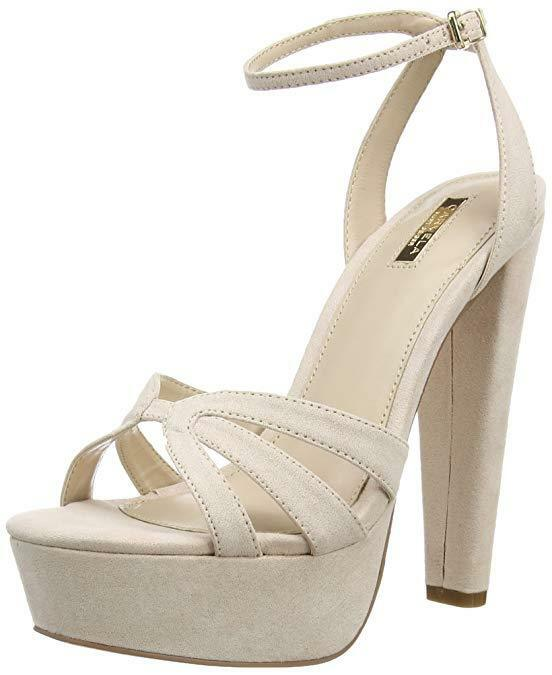 NEW   CARVELA KURT GEIGER SIZE 3 6 7 GEMMA NUDE PINK SUEDE SANDALS Schuhe