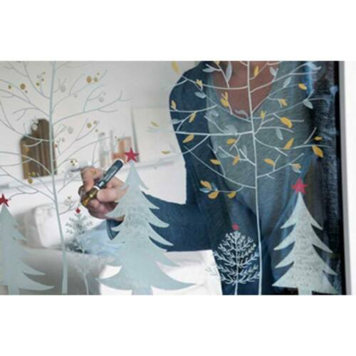 Glas Kreidemarker Kreidestift Kreul Chalky Winter 22708 4er Set sortiert