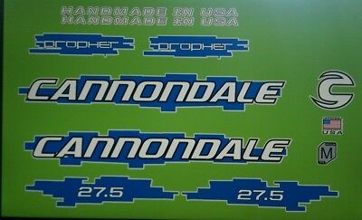 Sticker Decal Set for Old Style Cannondale Lefty ELO or DLR-Yellow /& Chrome
