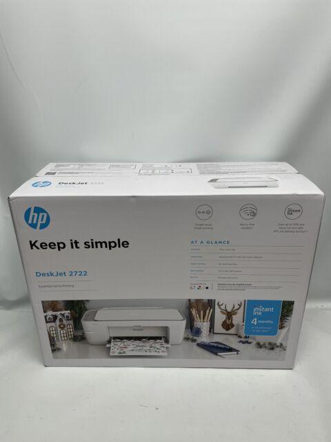 HP DeskJet 2722 All-in-One Wireless Scan Copy Color Inkjet Printer Instant Ink