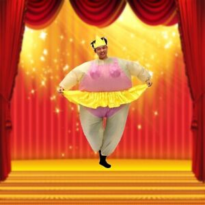 Inflatable-Ballerina-Fancy-Dress-Costume-Fat-Suit-Night-Dancer-Outfit-Party-Toys