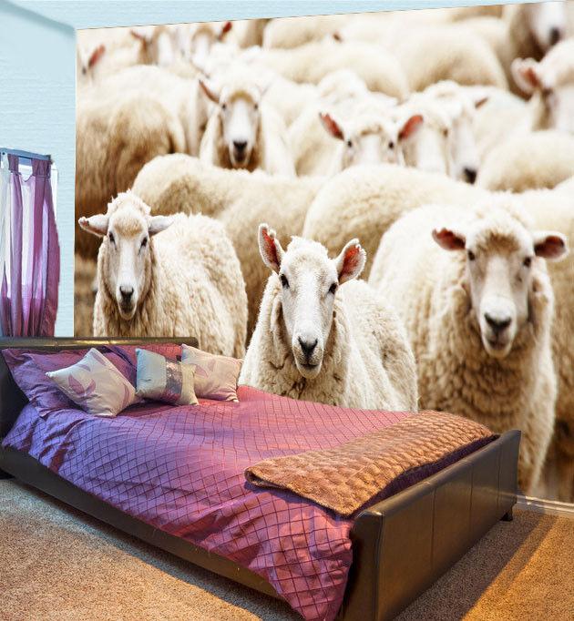 3D Australian Schafe 88 Tapete Wandgemälde Tapete Tapeten Bild Familie DE Summer