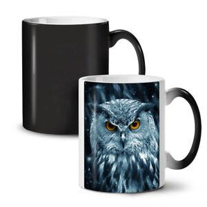 Wild Looking Owl NEW Colour Changing Tea Coffee Mug 11 oz | Wellcoda