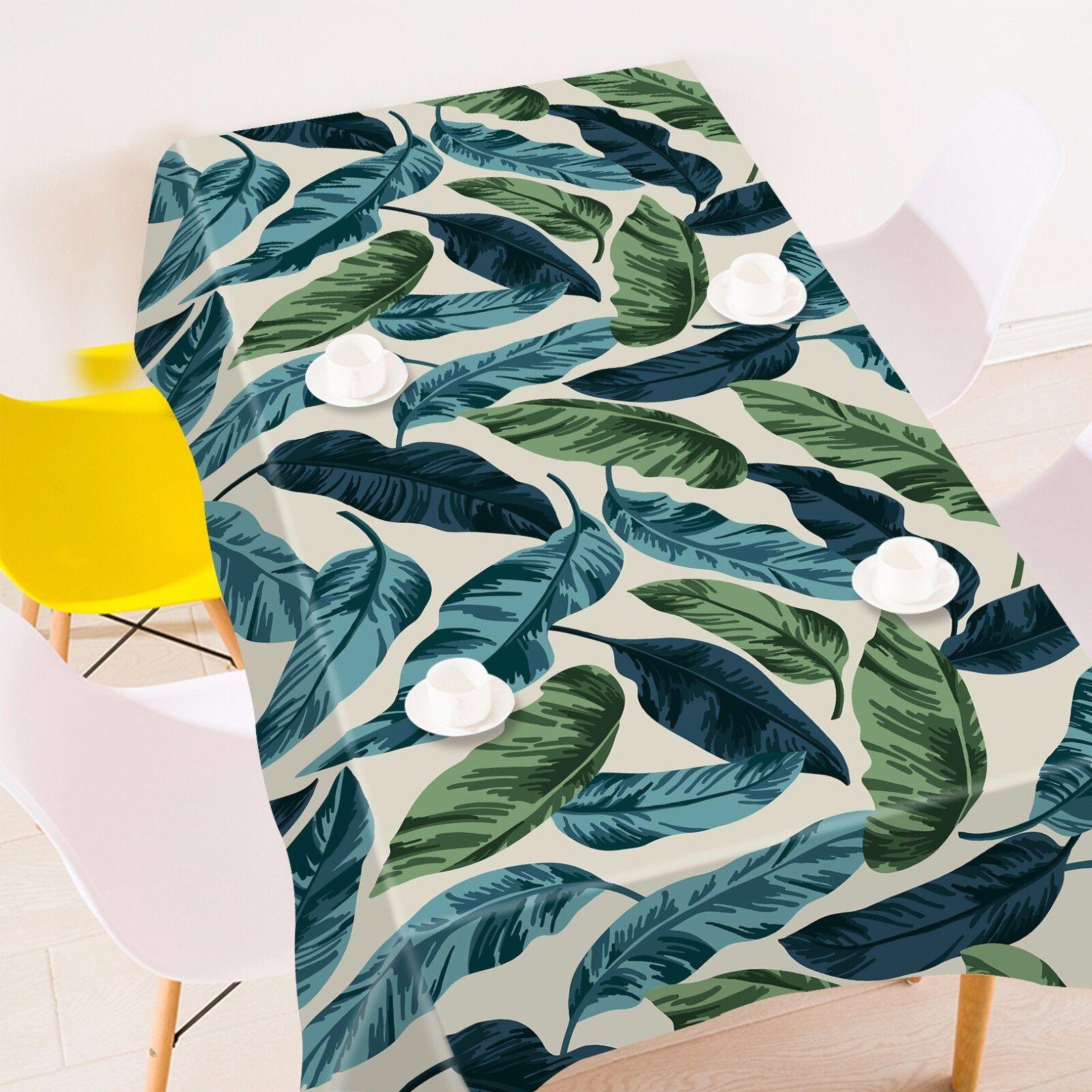 3D feuilles 52 Nappe Table Cover Cloth fête d'anniversaire AJ papier peint Royaume-Uni Citron