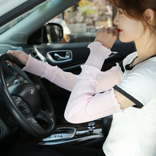 Women Oversleeves Spring Breathable Mittens Driving Summer Arm Sleeve Cover
