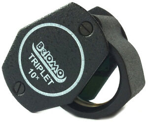 "Belomo 10x Triplet Loupe Magnifier. 21mm (.85"") Jewelry Instrument. Us Edition Blanc Pur Et Translucide"