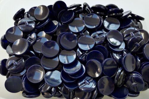 Q579 23mm 36L azul marino oscuro pulido vástago de Abrigo Chaqueta Botón Botones Delgado