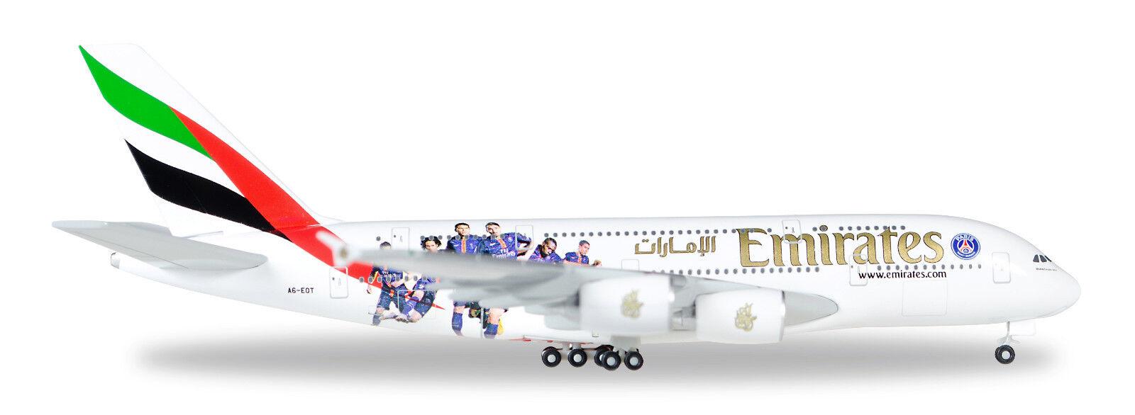 Herpa 529240 airbus a380 - 800 emiirates verordn.a6-eot 1  500 nuevo