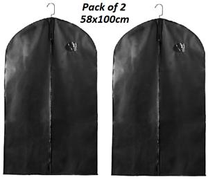 2-x-Suit-Bag-Dress-Clothes-Bags-Travel-Protector-Carrier-Garment-Bags-Storage