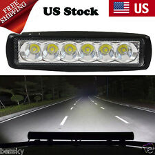 18W Flood LED Light Work Bar Lamp Driving Fog Offroad SUV 4WD Car Boat Truck