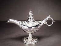 Silver Color Aladdin Lamp Figure Ornament Home Decoration 47
