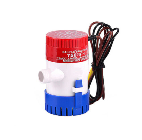 12V Submersible Bilge Pump 750GPH Electric Water Pump Float,Electric