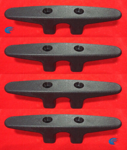 "4X Black 6"" NYLON CLEAT Boat Marine Dock Anchor Line HQ Rope Holder TieDown"
