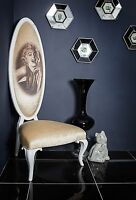 Marilyn Monroe High Back White Cream Throne Hallway Velvet Modern Contempory