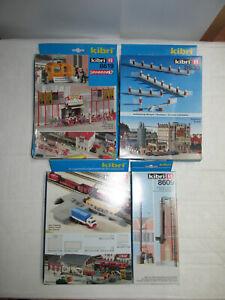 Convolute-4-Kibri-Kits-Scale-H0-8630-8619-8620-8609-for-Railway-Installations