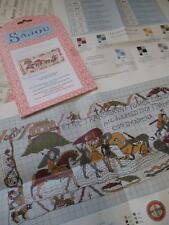 Sajou Museum & Heritage Bayeux Tapestry Embroidery Chart- Crossing the Couesnon