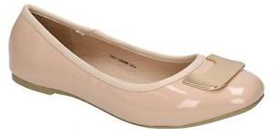 Damas Zapatos Planos Bailarina Desnuda punto en tamaños UK 3 - 8 F80201